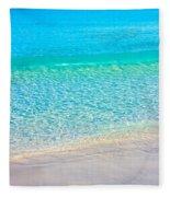 Keep Calm And Listen To The Sea Fleece Blanket