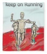 Keep On Running, Athletes Fleece Blanket