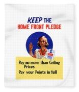 Keep The Home Front Pledge Fleece Blanket