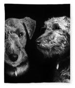 Keeper The Welsh Terrier Fleece Blanket