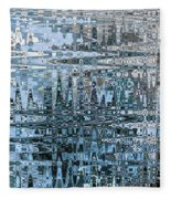 Keeping It Cool - Abstract Art Fleece Blanket