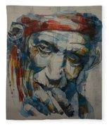 Keith Richards Art Fleece Blanket