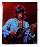 Keith Richards The Riffmaster Fleece Blanket