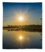 Kejimkujik Dawn Fleece Blanket
