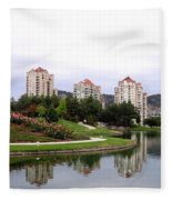 Kelowna Waterfront Park Fleece Blanket
