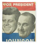 Kennedy For President Johnson For Vice President Fleece Blanket
