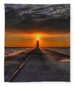 Kenosha Lighthouse Beacon Fleece Blanket
