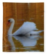 Kensingtons Swan 1  Fleece Blanket