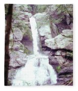 Kent Falls 3 Fleece Blanket