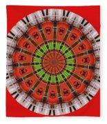 Kentucky Derby Glasses Kaleidoscope 3 Fleece Blanket
