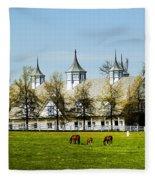 Revised Kentucky Horse Barn Hotel 2 Fleece Blanket