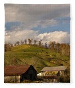 Kentucky Mountain Farmland Fleece Blanket