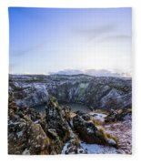 Kerid Crater Fleece Blanket