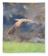 Kestrel Flying Fleece Blanket