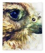 Kestrel Watercolor Painting Fleece Blanket