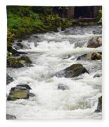 Ketchikan Creek Of Creek Street Fame Fleece Blanket