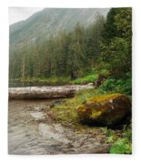 Ketchikan's Misty Fjord Fleece Blanket