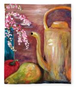 Kettle And Fruit Fleece Blanket