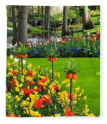 Keukenhof Ornamental Garden. Fleece Blanket
