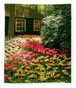 Keukenhof's Tulips Fleece Blanket