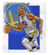 Kevin Durant Golden State Warriors Oil Art Fleece Blanket