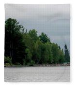 Keweenaw Waterway Lighthouse No 2 Fleece Blanket
