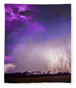 Kewl Nebraska Cg Lightning And Krawlers 038 Fleece Blanket