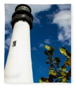 Key Biscayne Lighthouse, Florida Fleece Blanket
