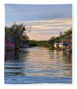Key Largo Canal Fleece Blanket