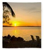 Key Largo Sunrise Fleece Blanket