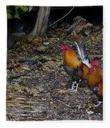 Key West Chickens Fleece Blanket
