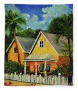 Key West Cottage Fleece Blanket