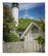 Key West Lighthouse Dsc01547_16 Fleece Blanket