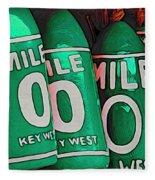 Key West Mile Zero Fleece Blanket