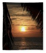 Key West Palm Sunset 2 Fleece Blanket