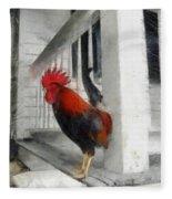 Key West Porch Rooster Fleece Blanket