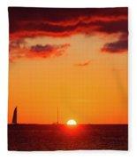 Key West Red Cloud Sunset Fleece Blanket
