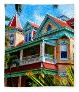 Key West Southern Most Hotel Fleece Blanket