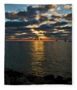 Key West Sunset 10 Fleece Blanket