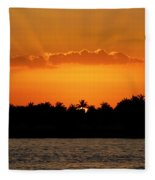 Key West Sunset 25 Fleece Blanket