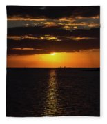 Key West Sunset 29 Fleece Blanket