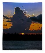 Key West Sunset Glory Fleece Blanket