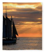 Key West Sunset Sail 6 Fleece Blanket
