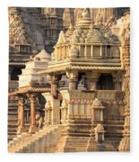 Khajuraho Temple, Chhatarpur District Fleece Blanket