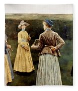 Khnopff: Memoires, 1889 Fleece Blanket