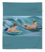 Kids Bodyboarding Fleece Blanket