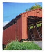 Kidwell Covered Bridge Fleece Blanket