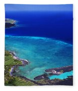 Kiholo Bay Aerial Fleece Blanket