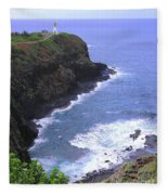 Kilauea Lighthouse And Bird Sanctuary Fleece Blanket