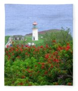 Kilauea Lighthouse Kauai Hawaii Fleece Blanket
